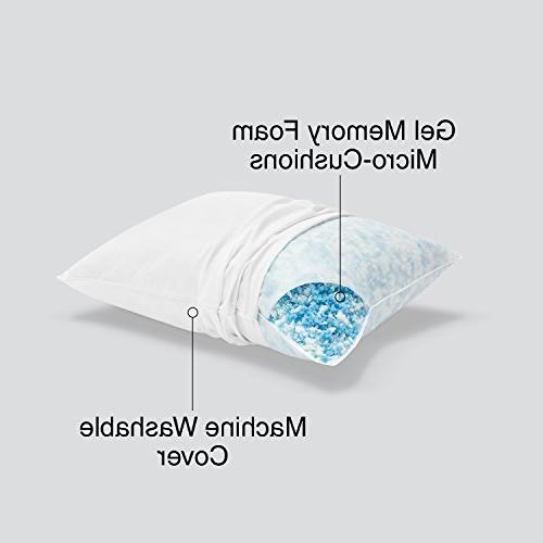 Sleep Innovations Pillow with Microfiber Cover, in USA with Warranty