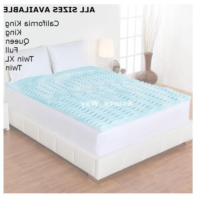 "Comfort Foam Mattress Topper Pad Bed King, Full  Size 2"" Ort"