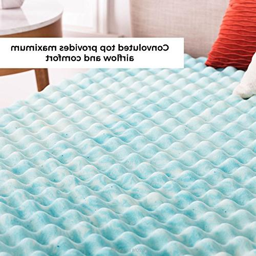 Linenspa 2 Convoluted Gel Swirl Mattress - Promotes Airflow Relieves Points - Twin
