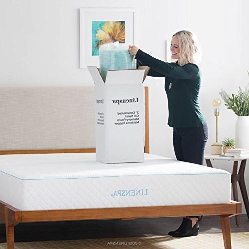 Linenspa 2 Convoluted Gel Swirl Foam Mattress Promotes Airflow Points