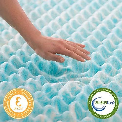 Linenspa 2 Inch Gel Swirl Mattress Airflow