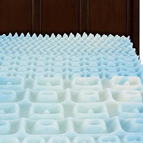 convoluted swirlgel foam mattress topper
