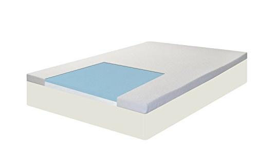 Spring Coil, 2-inch Cool Gel Memory Foam Topper for Mattress Comfortable Support and You Long, Size