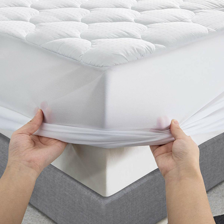 Cotton Top Pillowtop Mattress Pad Cooling Down Alternative F