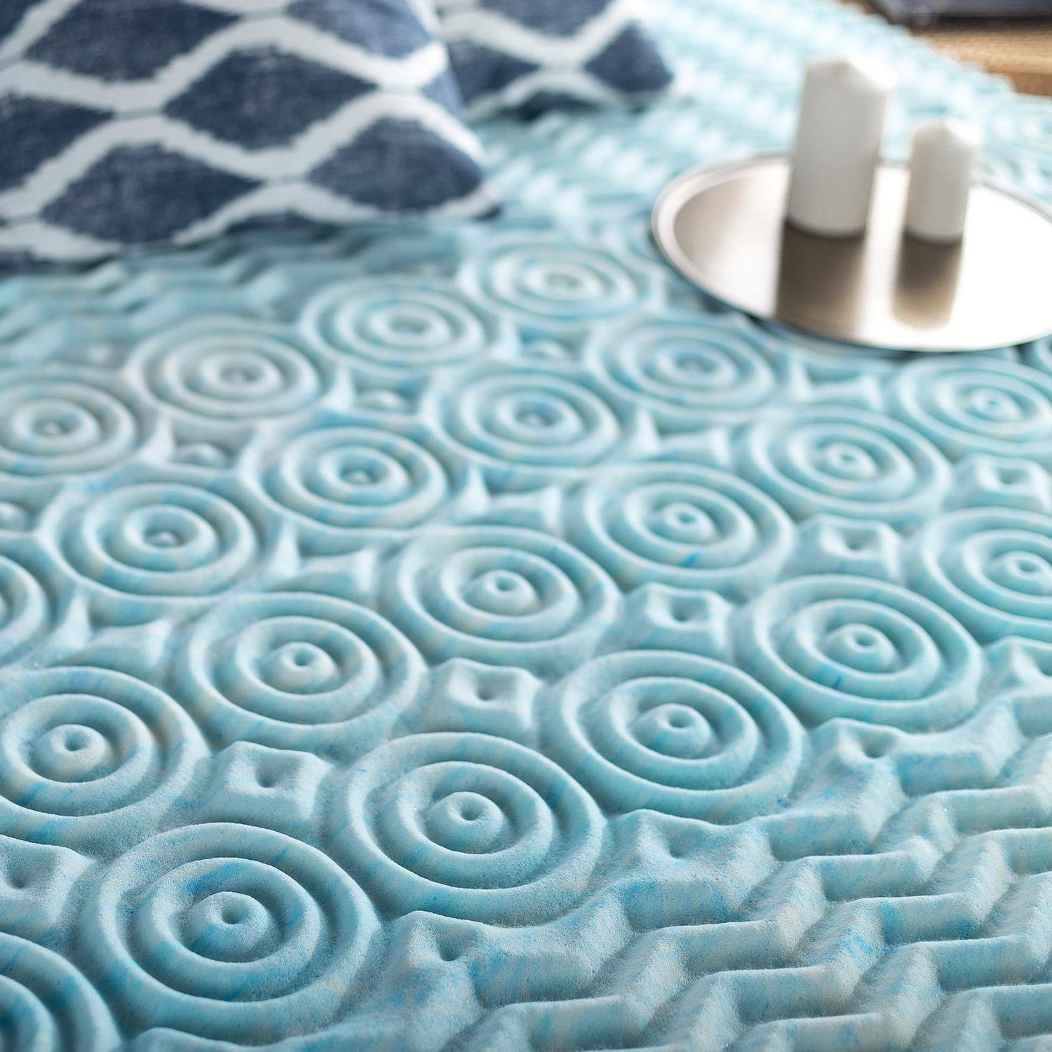 """Cooling Mattress Pad Cushion Zoned Firm 1"""""""
