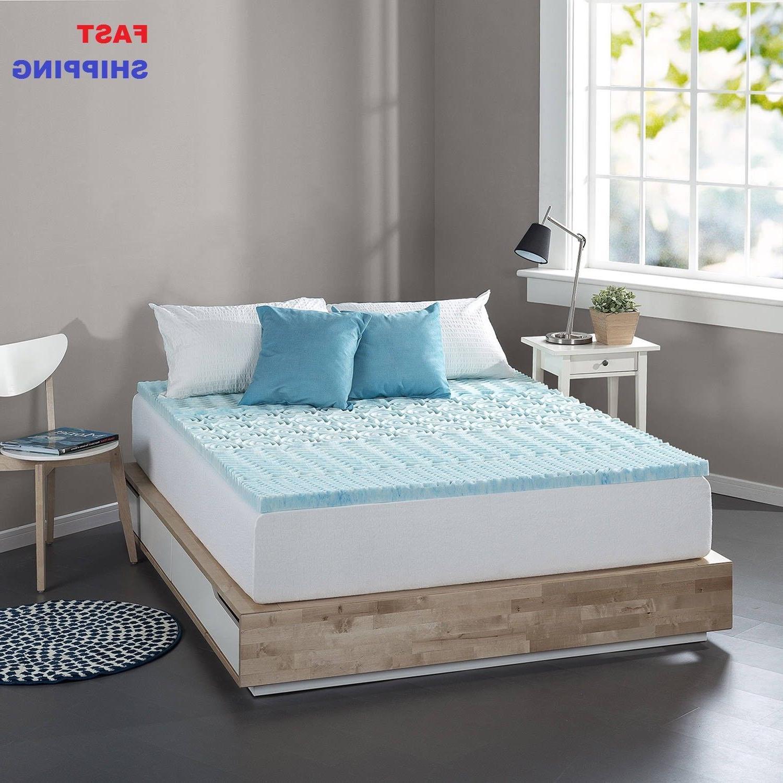 cooling gel memory foam mattress topper pad