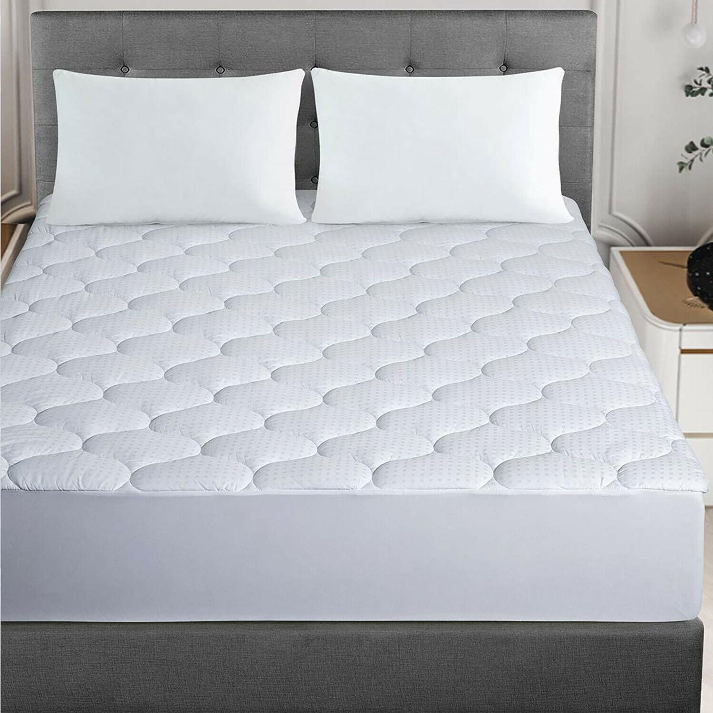 Cooling Cotton Top Pillowtop Mattress Pad Down Alternative F