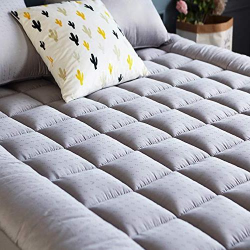 Mattress Cover Cooling Thick Pocket - Quilted Pillowtop