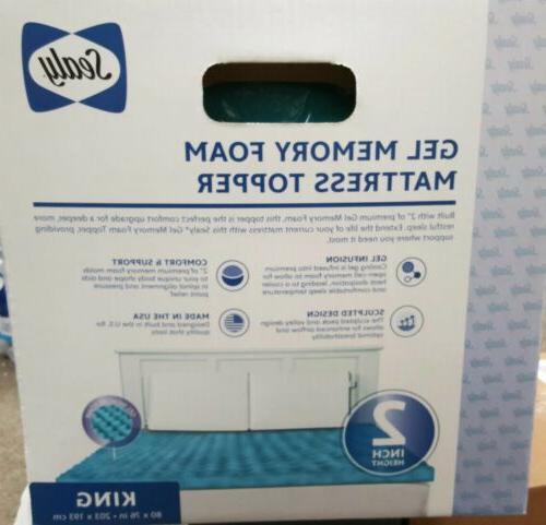 Sealy Essentials 2-Inch Gel Memory Foam 5 YR Warranty,