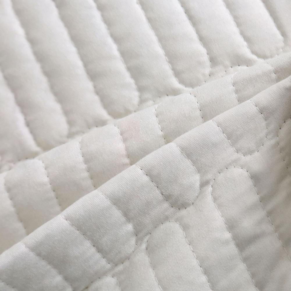 Floral Beige <font><b>size</b></font> set <font><b>Mattress</b></font> <font><b>topper</b></font> Blanket Pillowcase 3pcs quilt