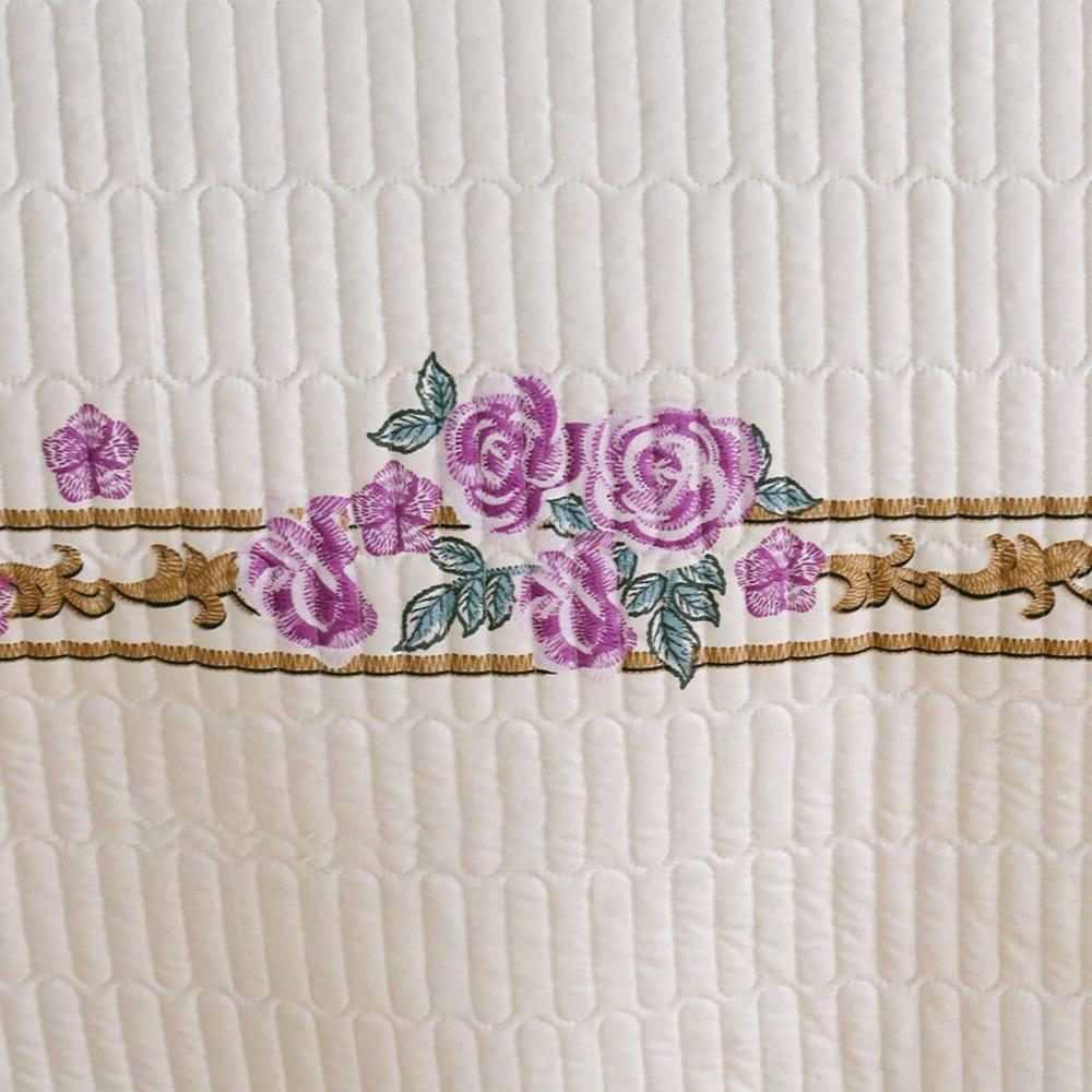 Floral Beige <font><b>size</b></font> cover <font><b>Mattress</b></font> Pillowcase 3pcs cover
