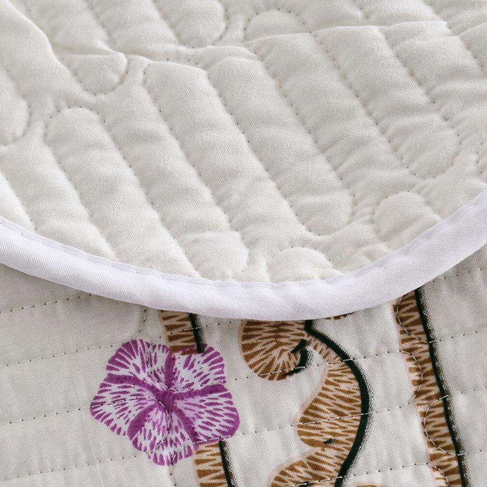 Floral Beige Bedspread <font><b>size</b></font> cover <font><b>Mattress</b></font> 3pcs quilt cover