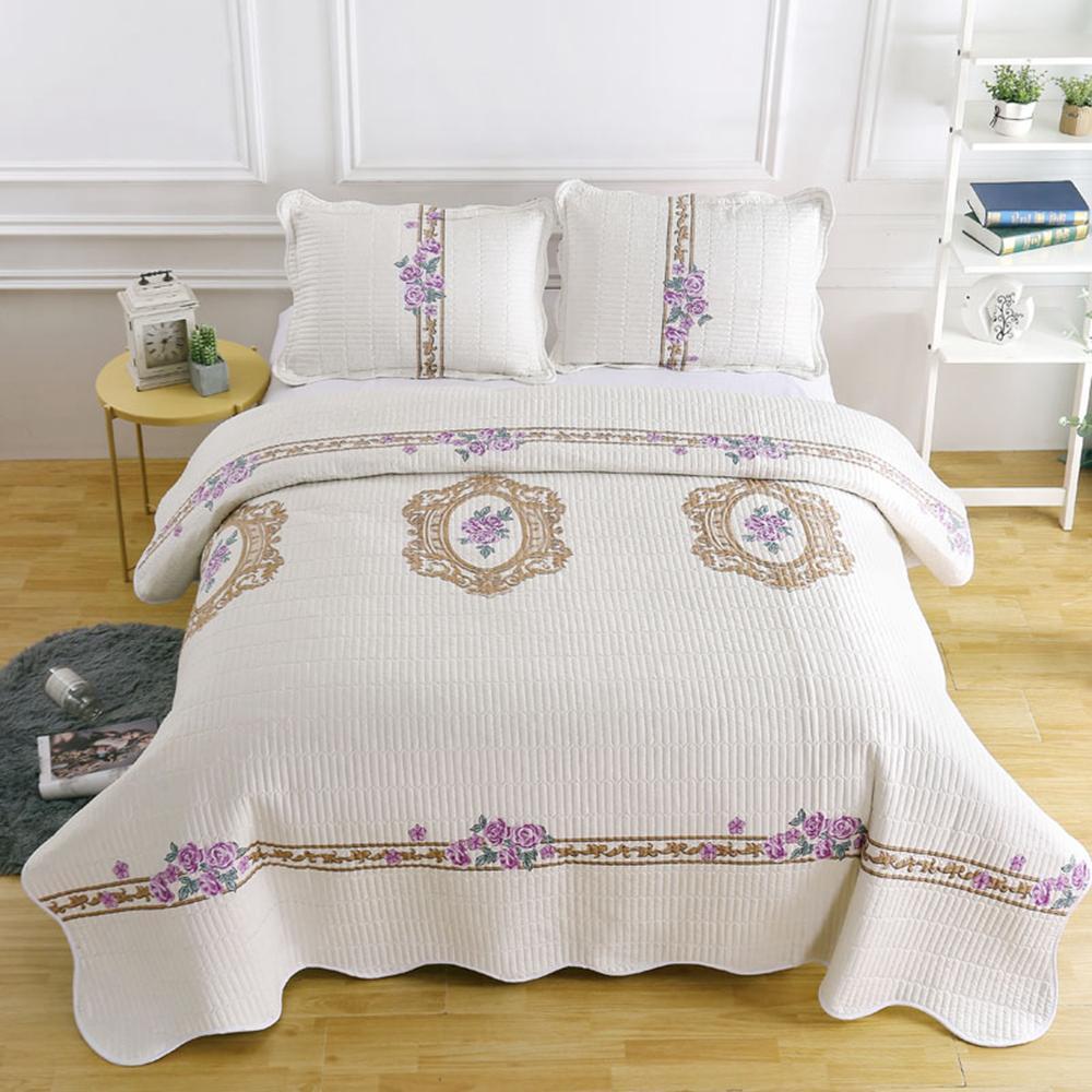 floral beige bedspread king font b size