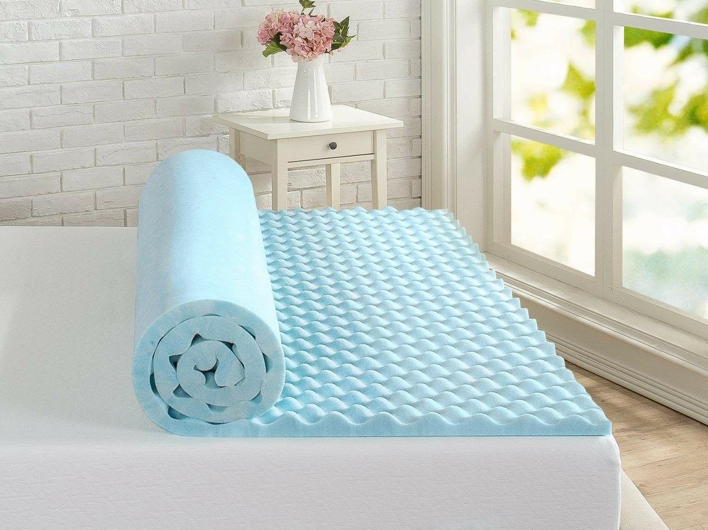 Full Sz Topper Gel Memory Foam Swirl Bedding