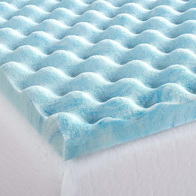 Full Sz Topper Gel Swirl Air Bedding