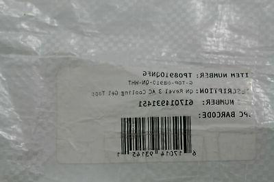 Revel G-TOP-08910-QN-WHT Gel Memory Foam Mattress Topper