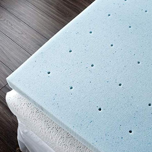 Comfort & 2 Mattress Topper, Plush Cover, AirCell-Tech,