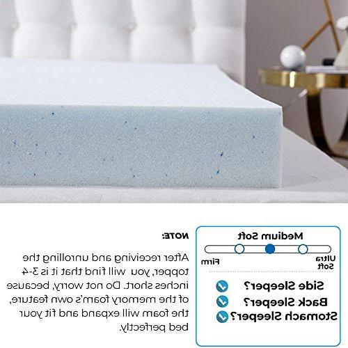 Comfort & 2 Inch Memory Mattress Topper, AirCell-Tech,