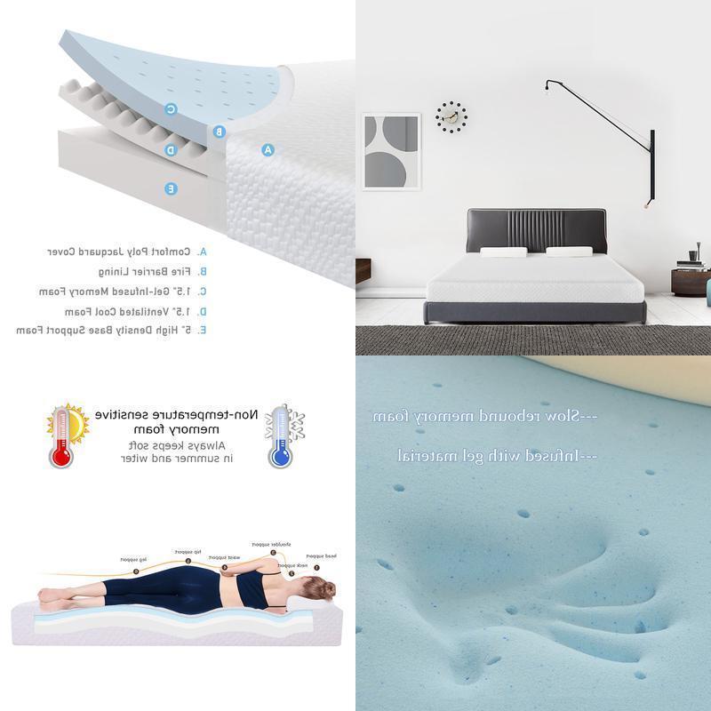 gel infused memory foam mattress topper certipur