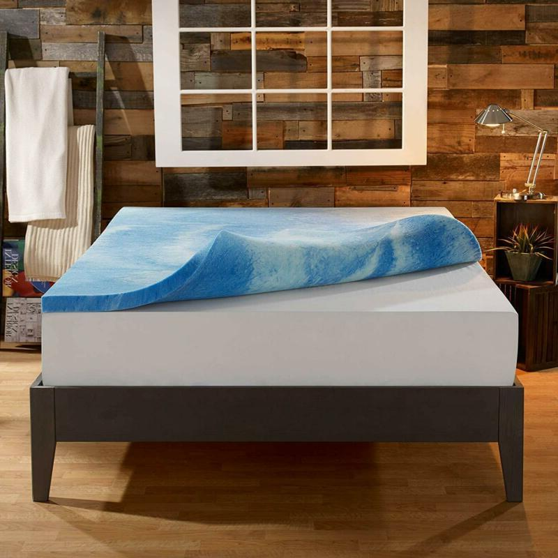 Sleep Innovations Gel Memory Foam 4-Inch Mattress Topper, Made The