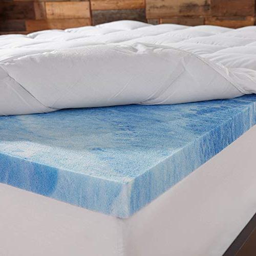 Sleep Innovations Foam Dual Mattress Topper, the 10-Year Warranty - Twin Size