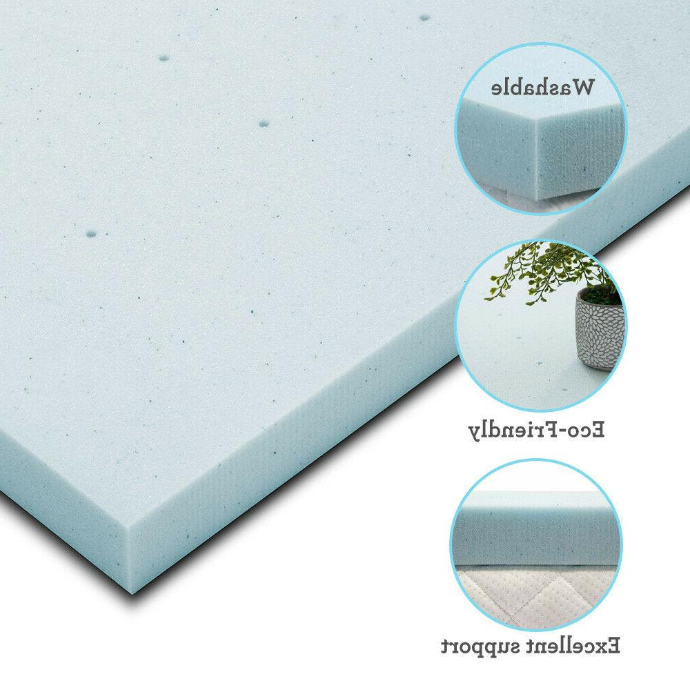 Full 2.5 Memory Foam Topper Soft Dot Gel Ventilated