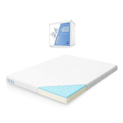 LUCID 5 Inch Gel Memory Foam Mattress Dual-Layered CertiPUR-US Certified...