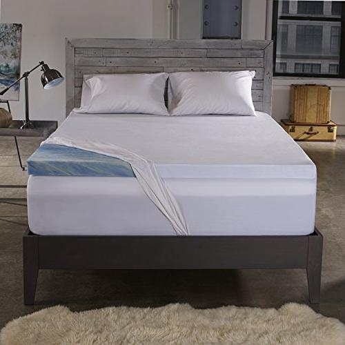 Sleep Memory Foam Mattress Topper with 100% Cotton Made in The with a - Size