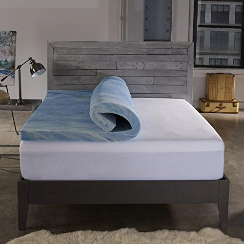 Sleep 2.5-inch Gel Memory Mattress with Cover, Made USA with - Size