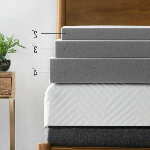 gel memory foam mattress topper 3 4