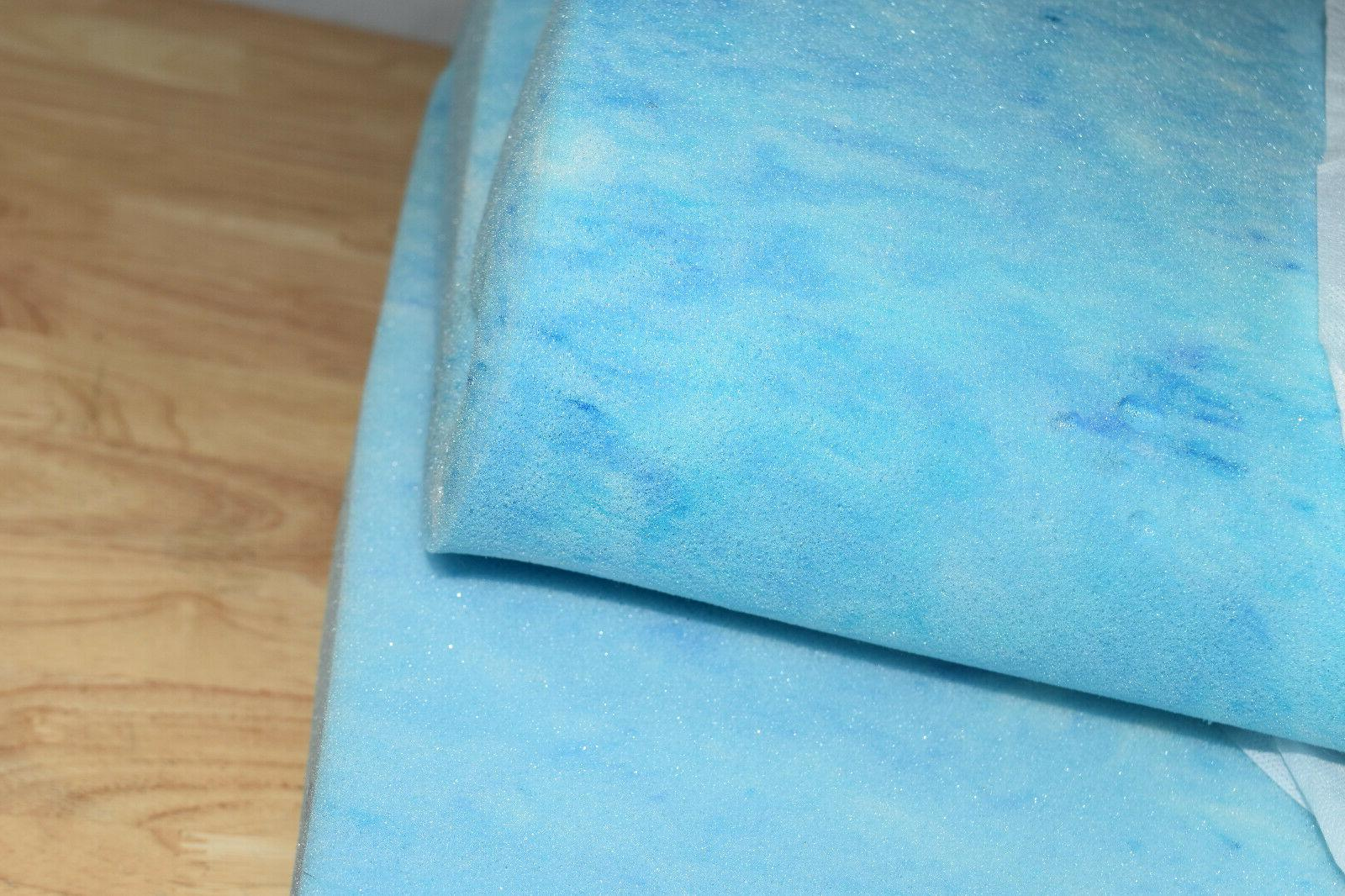 Sleep Gel Foam Mattress White/Blue