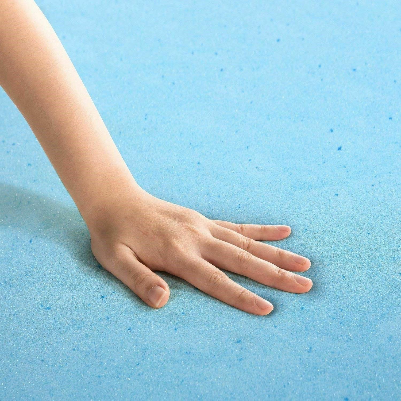 Gel Memory Foam Topper Size Inch Toppers Zinus