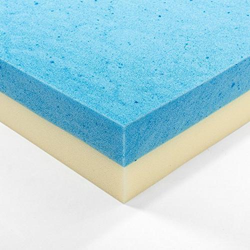 Zinus Inch Gel Memory Foam Mattress Topper, Twin