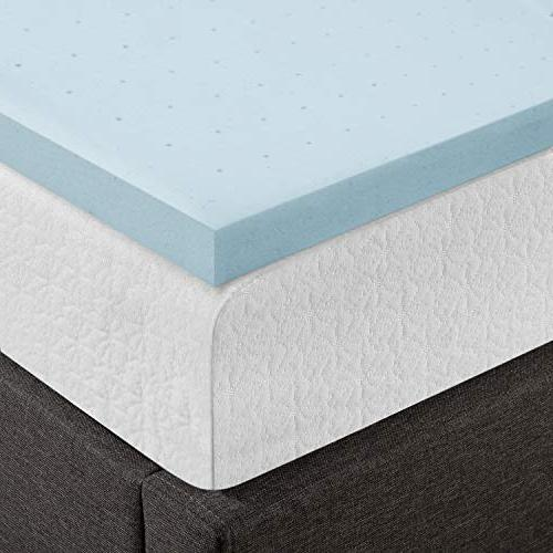 Best Price Mattress Topper Foam, Queen Blue