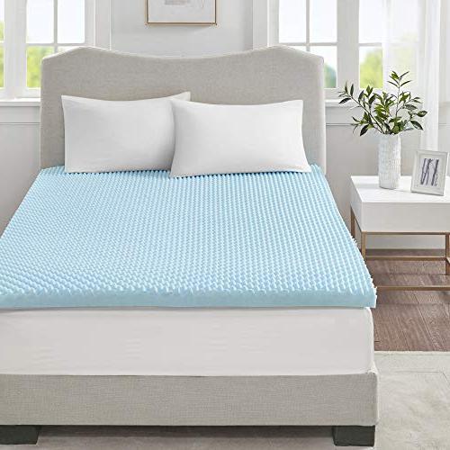 Sleep Philosophy Flexapedic Gel Memory Mattress Cooling Bed Blue