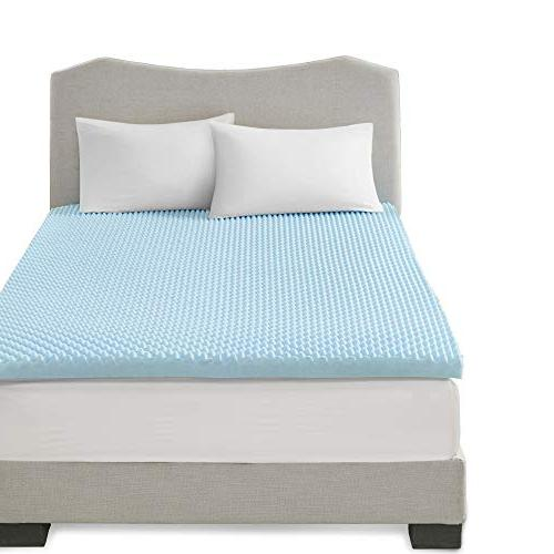 Sleep Philosophy Flexapedic Memory Cooling Bed Cover Blue