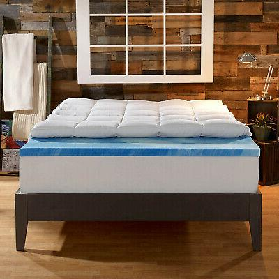 gel memory mattress topper