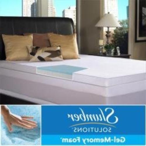 Slumber Solutions Gel Select 3 Inch Memory Foam Mattress Top