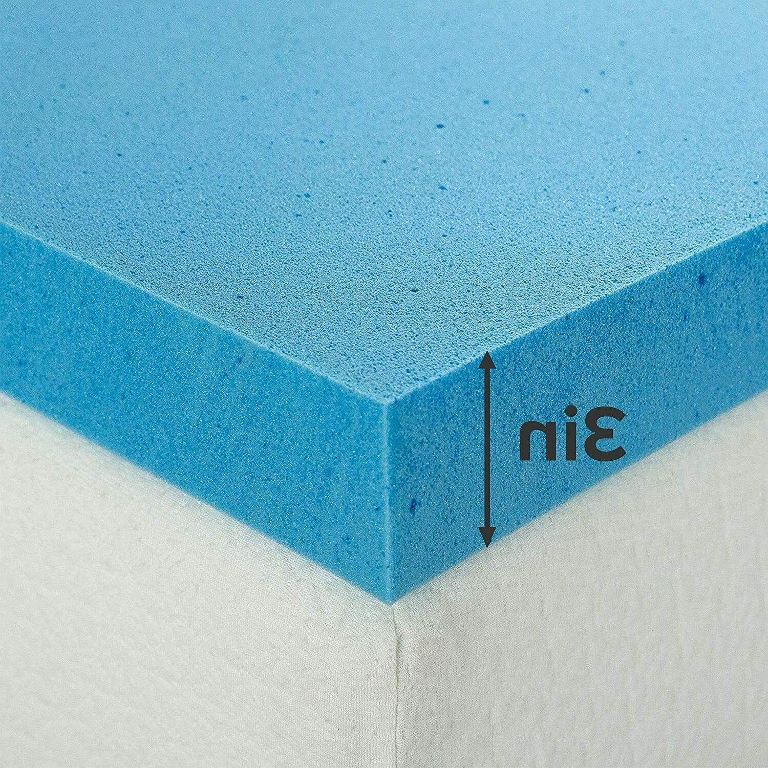 Zinus Cooling Gel Memory Mattress Toppers, inch