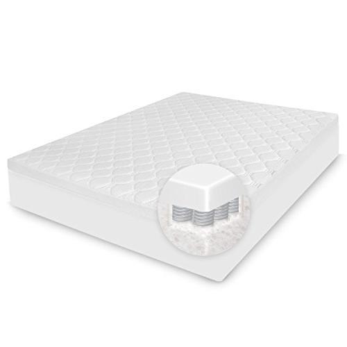BioPEDIC Hybrid Micro and Foam Mattress Topper, Full, White