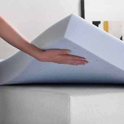 Lucid Queen Size Foam Mattress 4 Gel Topper Plush