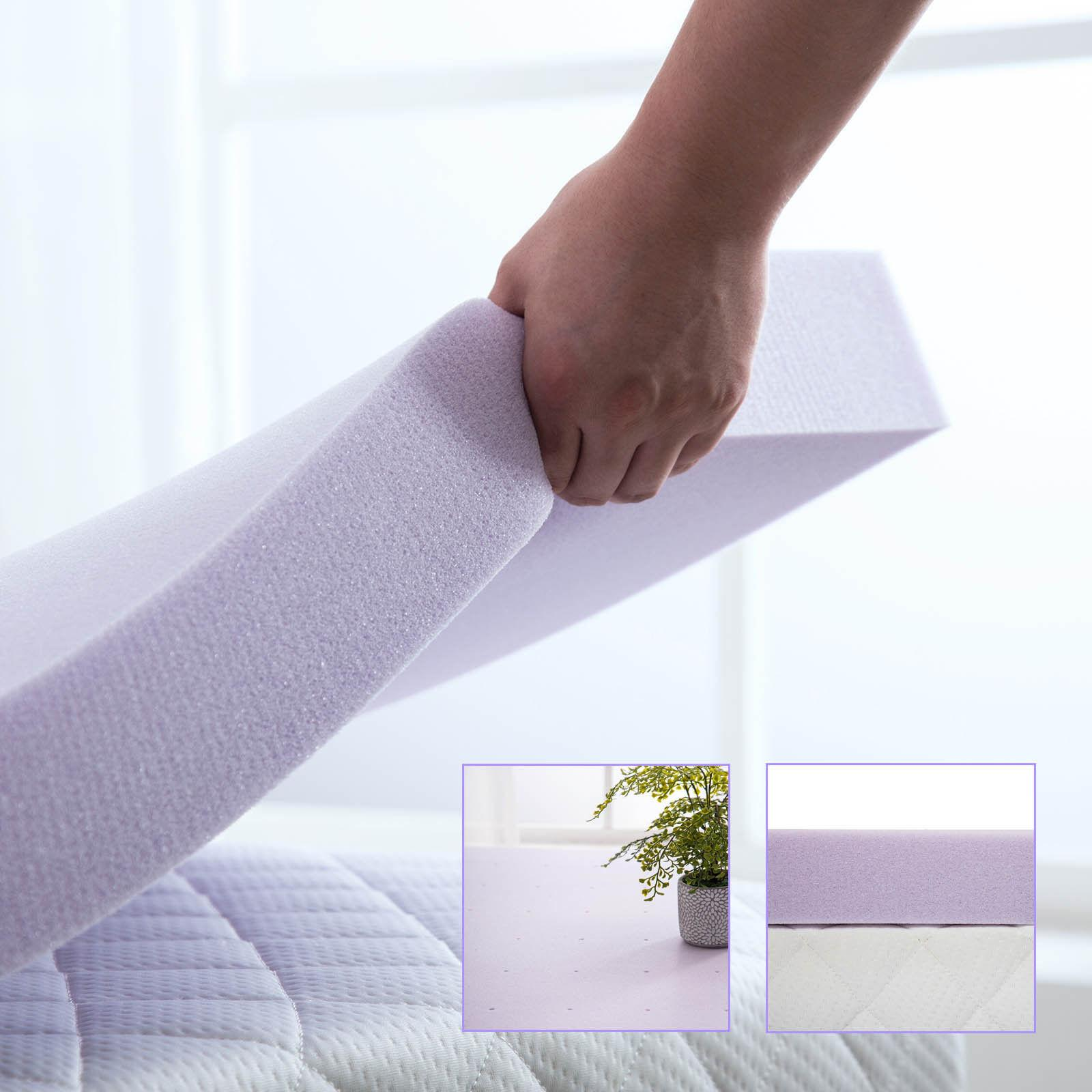 2.5/3/4 Foam Mattress Topper Lavender Dot Queen Twin Full