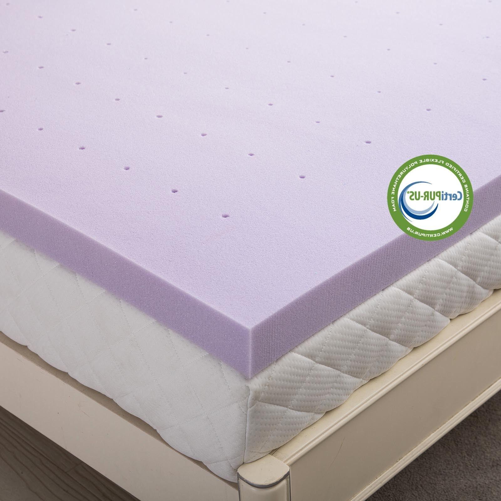 Lavender 3 Inch Memory Foam Full