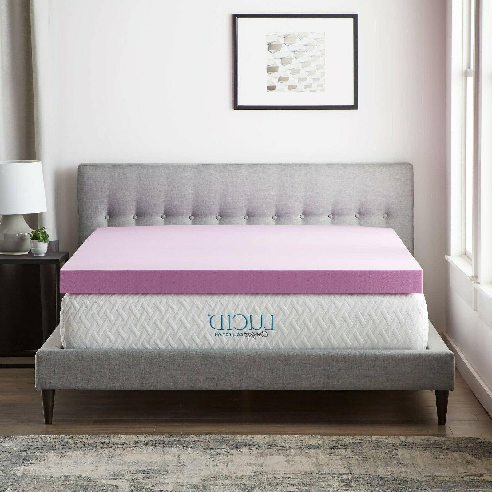 LUCID Collection Lavender Memory Foam
