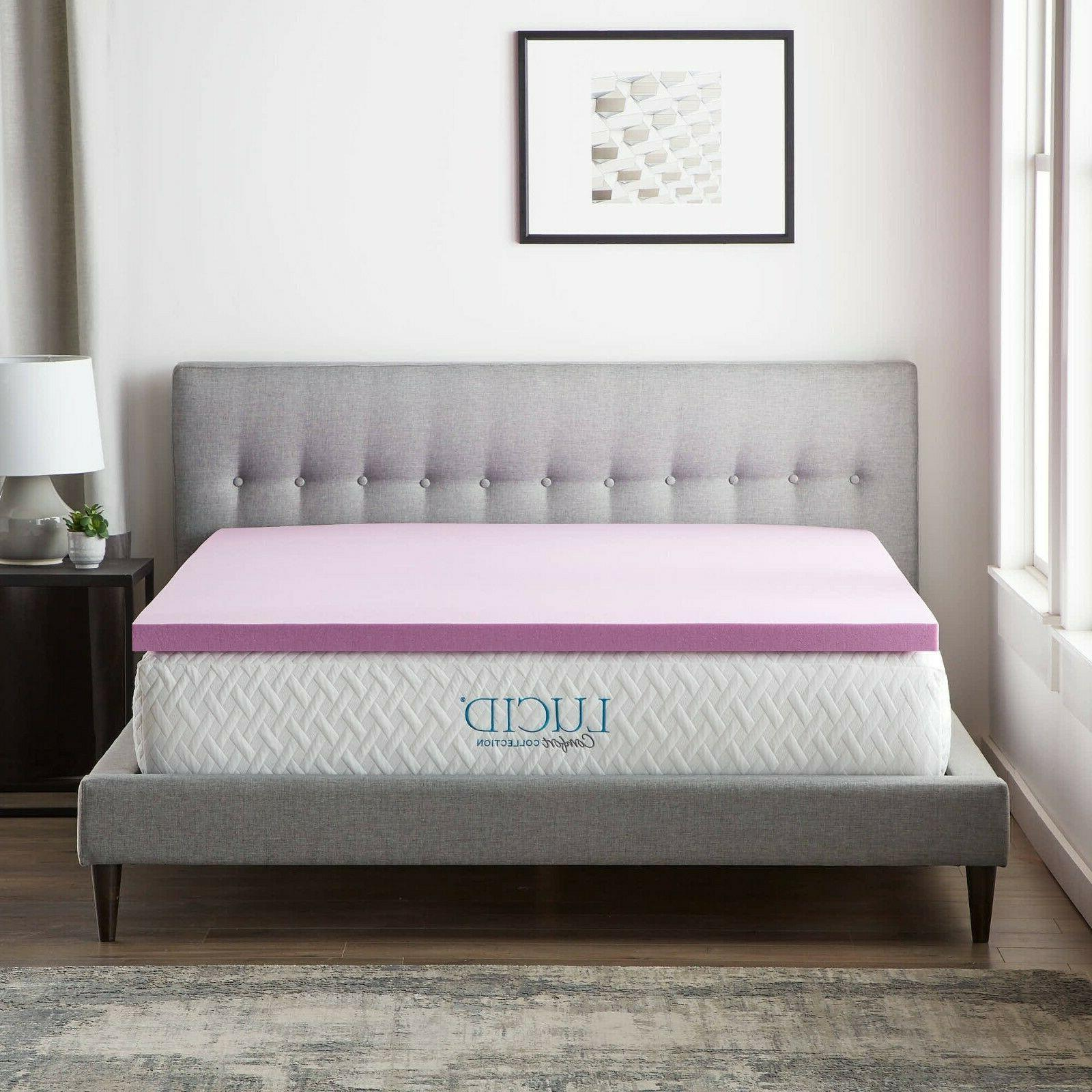 LUCID Comfort Collection Lavender Memory Foam Mattress
