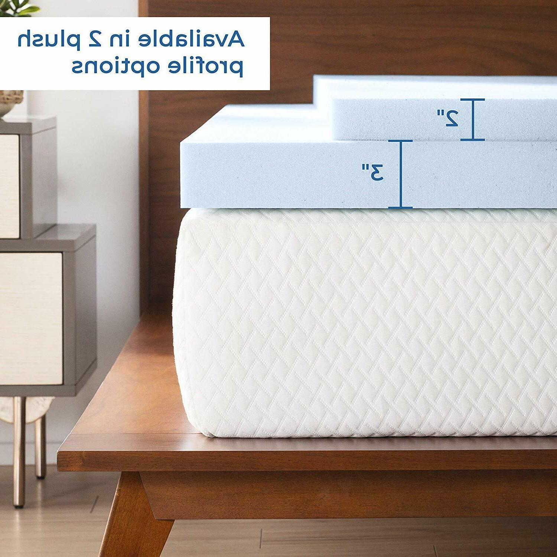 Linenspa 2 Inch Gel Infused Memory Foam Mattress Topper, Twi