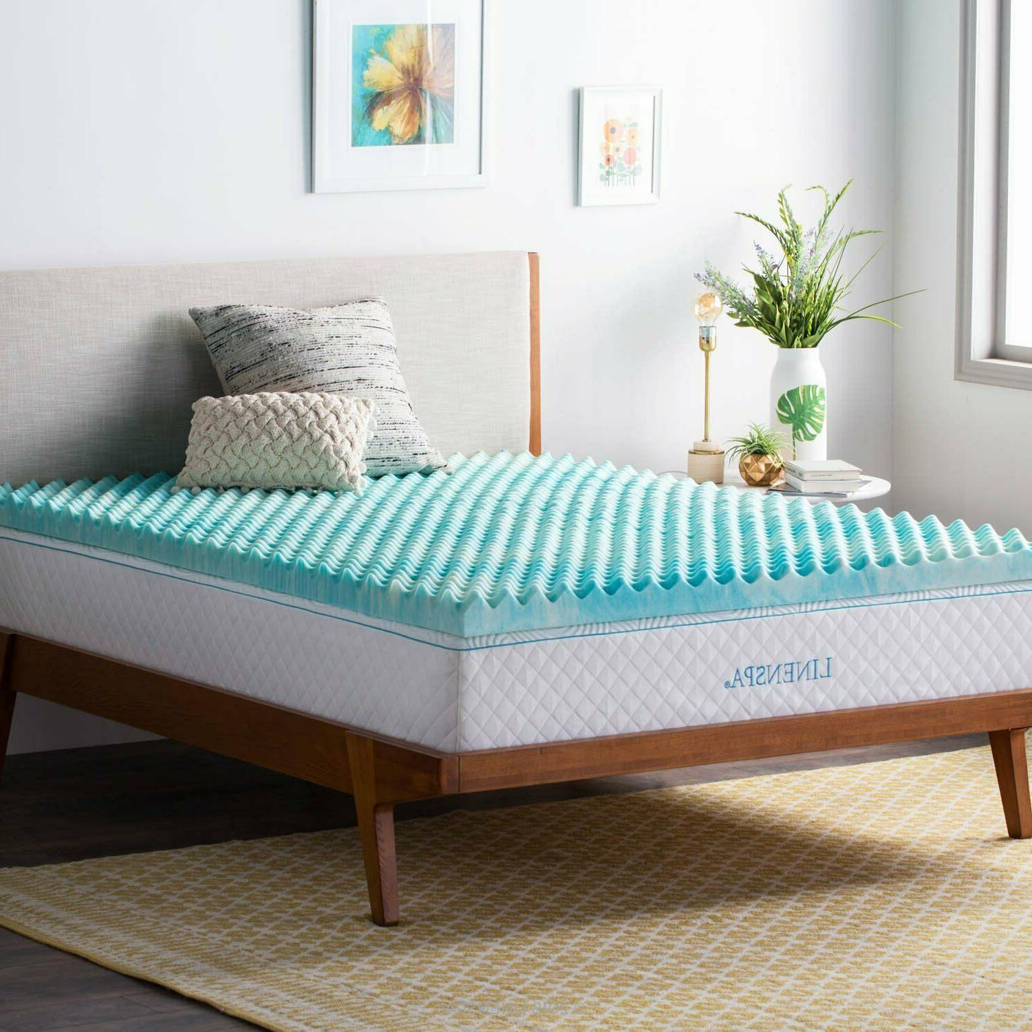 Linenspa Convoluted Gel Swirl Foam Mattress -