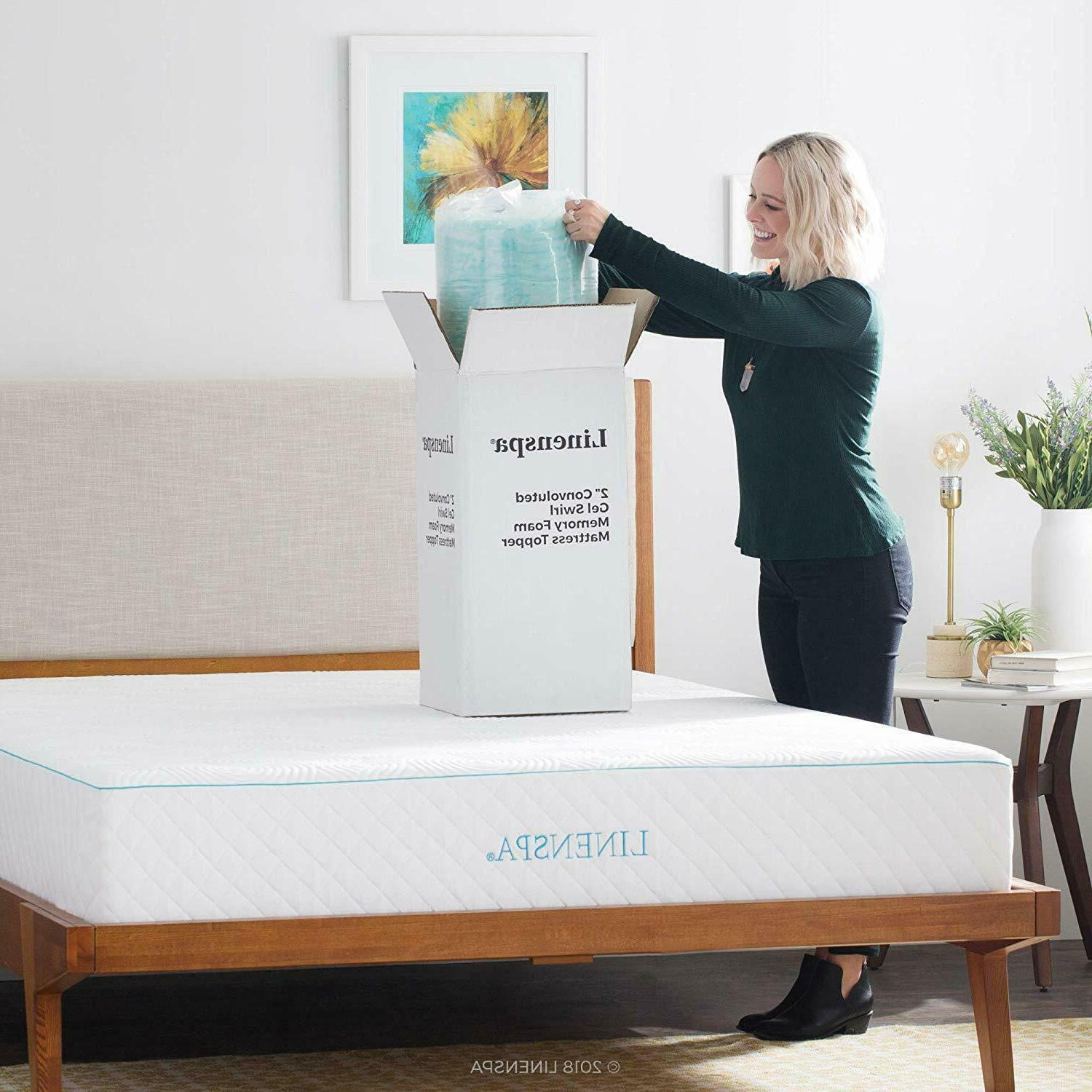 Linenspa Convoluted Gel Swirl Memory Foam Mattress Topper