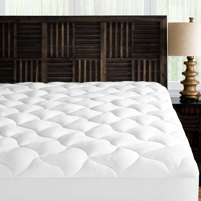 Luxury Bamboo Plush Matress Topper Soft Mattress Pad Down Al