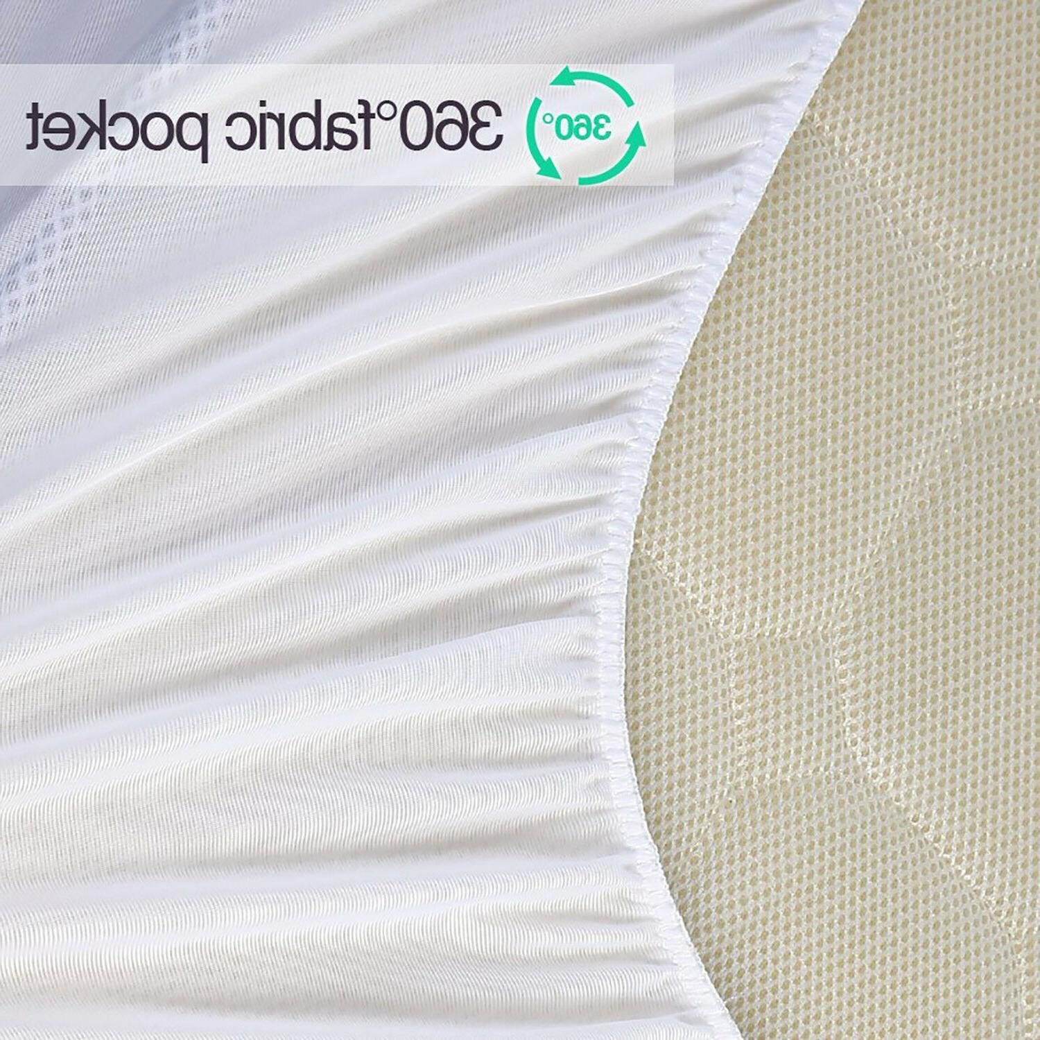 Luxury Deep Pocket Mattress Topper Quilted Pad Cott